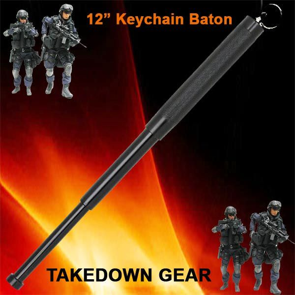 12 in Police Baton Telescoping / Keychain NS12BK