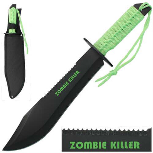 15 in Zombie Killer Full Tang Bowie Knife WG946