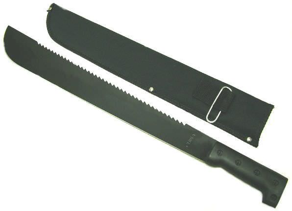 23in Saw Back Machete & Sheath C4114BS