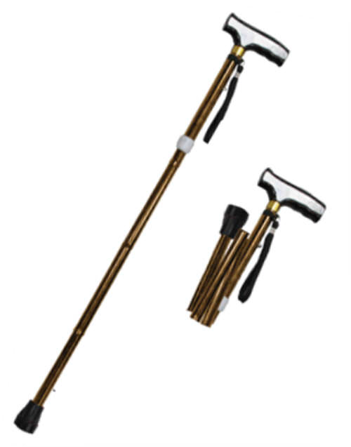 36 in Copper Folding / Adjustable Walking Cane WS2112CC