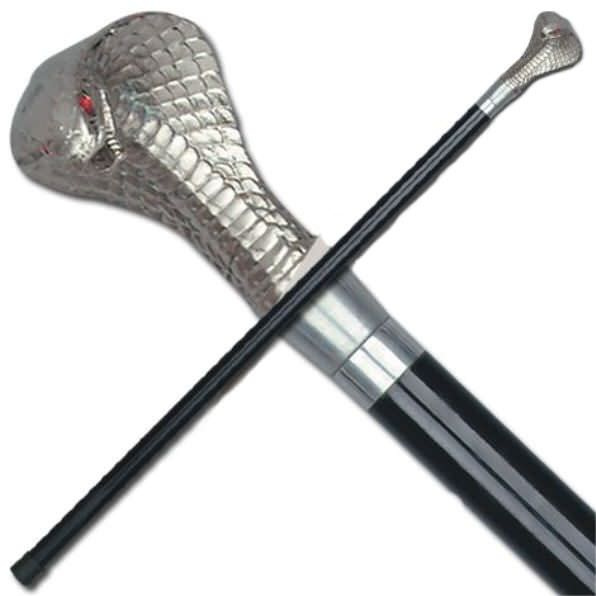 36 inch Cobra Head Cane NO SWORD SJ2255NB