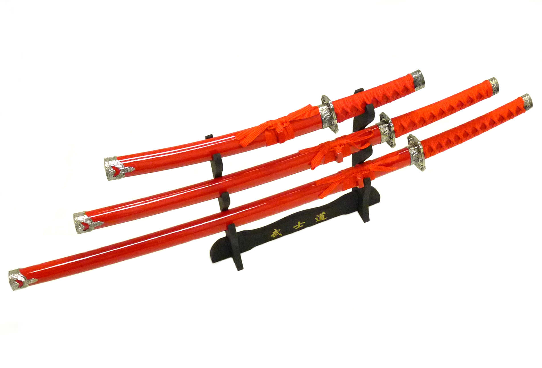 3pc Set Samurai Sword Set C29152-RD4
