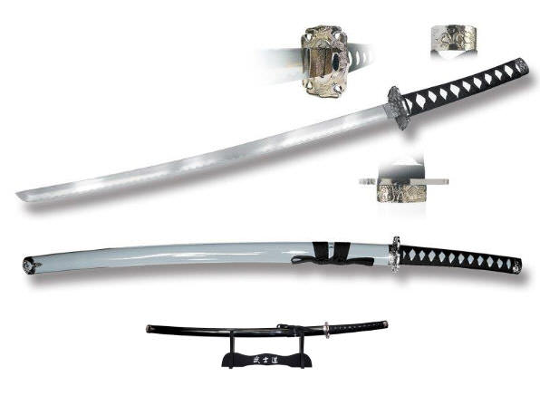 40in Silver Katana & Stand SW010SL