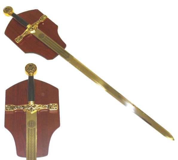 45 in Gold Excaliber Sword & Plaque K00900GD-CH