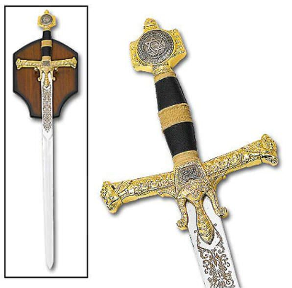 47in King Solomon Sword & Plaque KS4914
