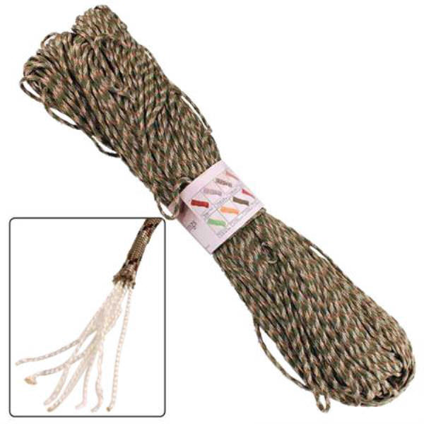 500 ft Paracord Woodland Camo Survival Cord AZ894