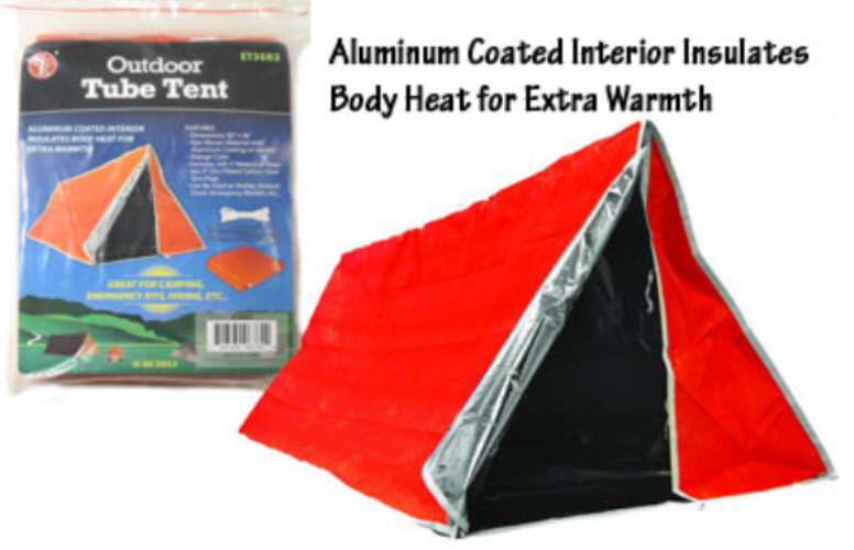 82 x 36 Aluminum Coated Interior Emergency Tube Tent ET3683