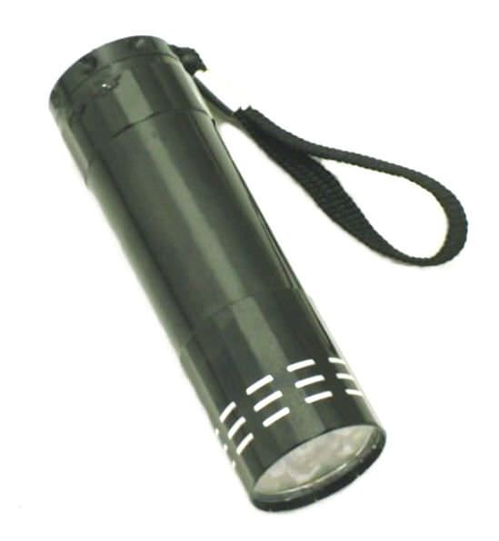 9 Bulb METAL Led Flashlight FL3078Bk
