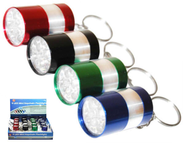 9 Led Key Chain Flashlight FL319-16
