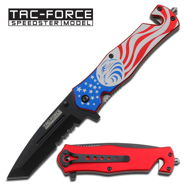AO American Flag & Eagle Rescue Knife TF746TE
