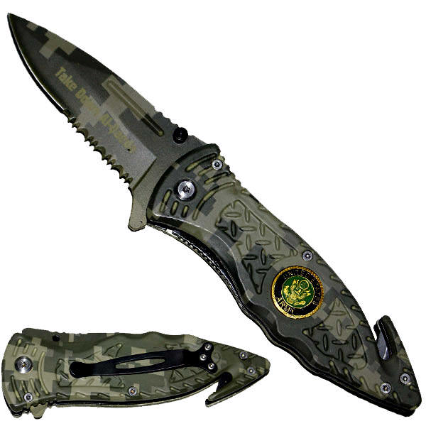 AO Army Digital Camo Rescue Knife K54