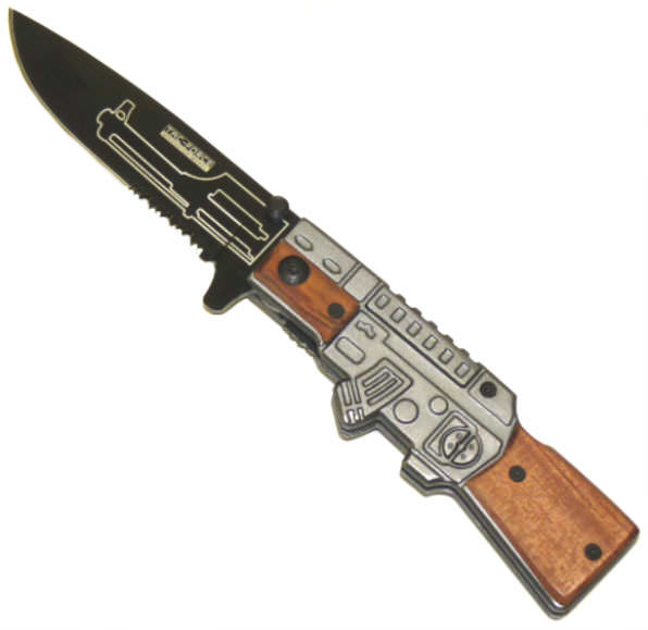 AO Hardwood Stock Rifle Knife YC546WD