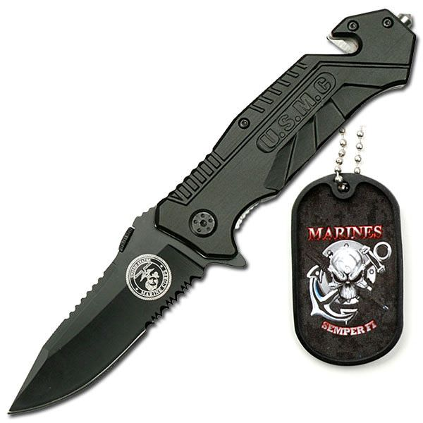 AO Marine Rescue Knife & Dog Tag YC501M