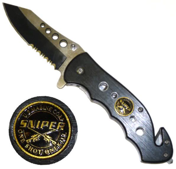 AO Marine Sniper Rescue Knife YC498BS