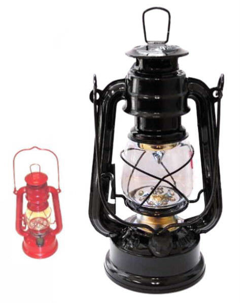 Black 12 LED Hurricane Lantern FL806-12BK