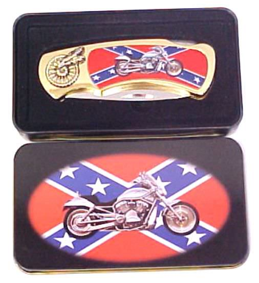 Confederate Flag & Motorcycle KPK4040FM