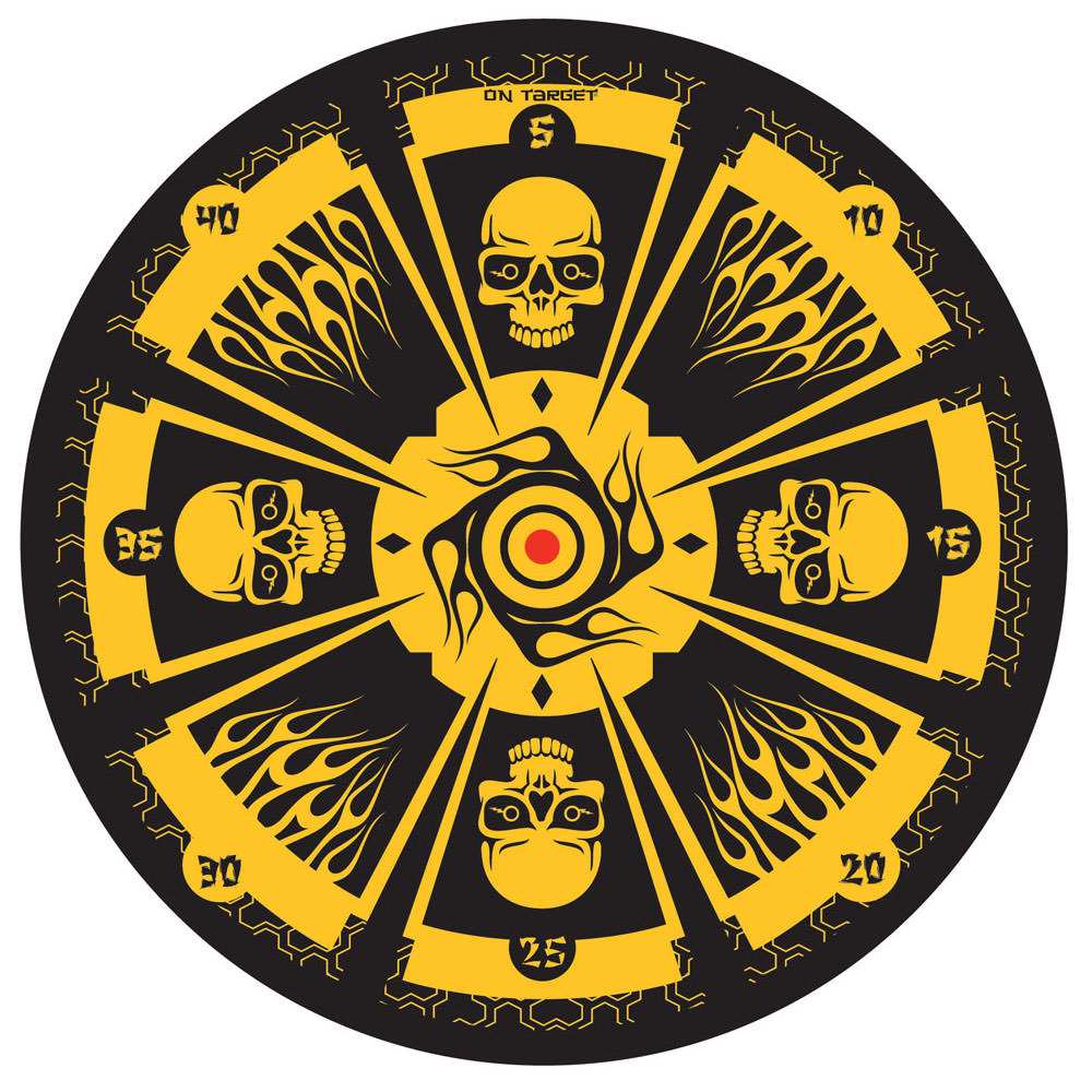 Fantasy Skull Dozen-Throwing Set with Board 6 1/4""