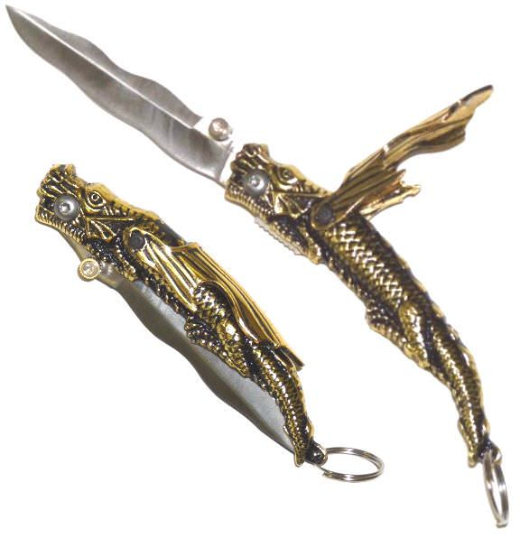 Gold Dragon Pocket Knife / Opener FM557G