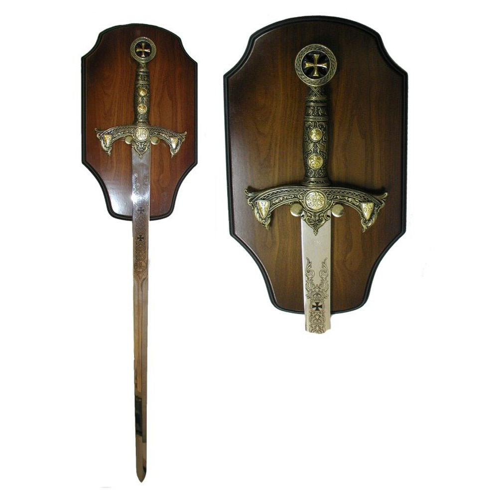 Knight's Templar Sword with Display 47""