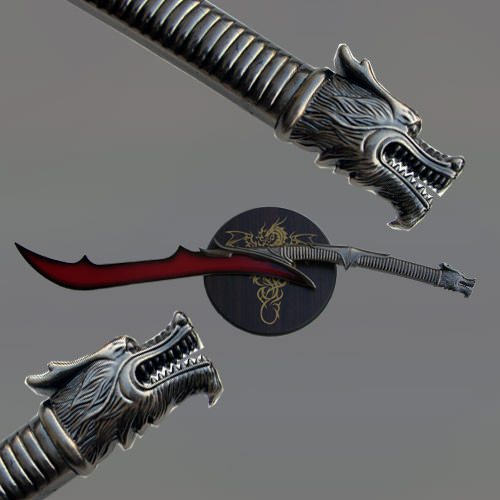 Red Dragon Blade Open Mouth Sword | Fantasy Gear ...