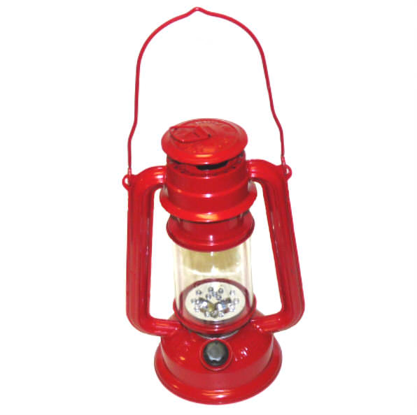 LED RED Hurricane Lantern 15 Bulb FL805-15RD