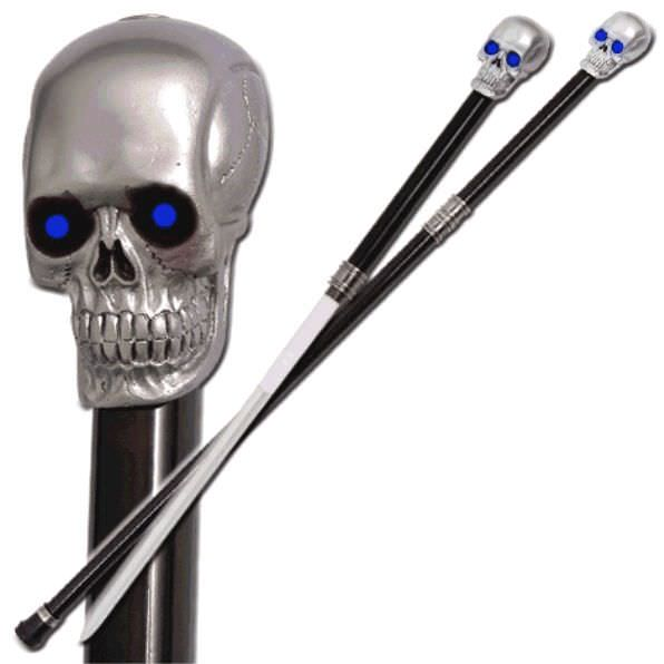 Lighted Skull Sword Cane SW1102CS