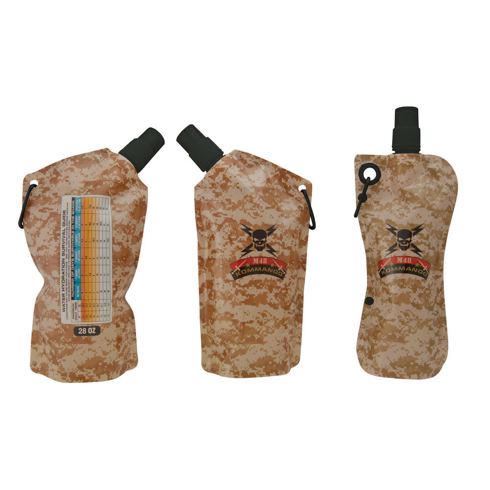 M48 Kommando Disposable Flask Set 3-Pack With Funnel