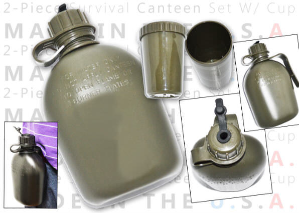 Military Style 1 Qt Canteen ODCANT
