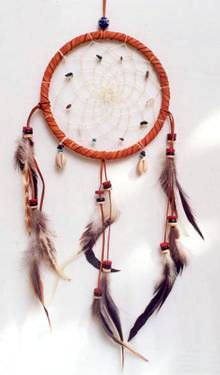 Native American 4x14in Dream Catcher 3734