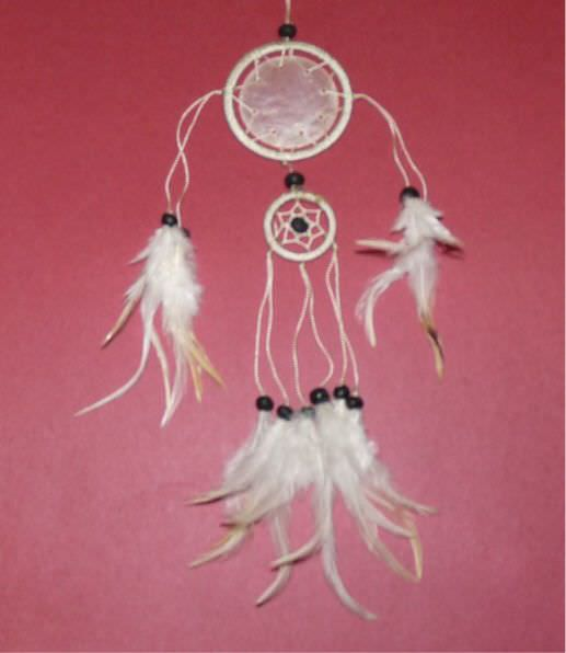 Native American Shell Dream Catcher Dc02