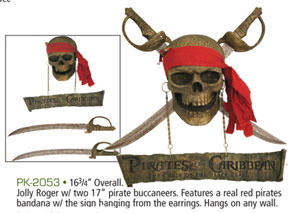 Pirate Sword Wall Plaque