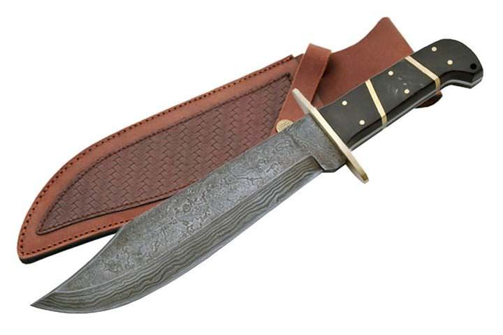 Real DAMASCUS Steel Bowie Knife DM1010