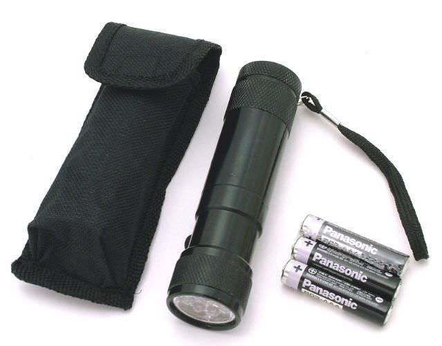 8 Bulb Led / LASER Flashlight FL3092B
