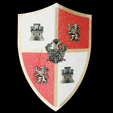 Medieval Carlos V Royal Knights Crusader Shield 24 quot Medieval Knights Armor Facts