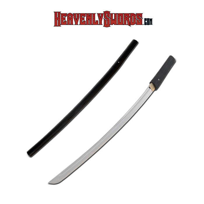 Musashi Hand Forged Black Shirasaya Sword