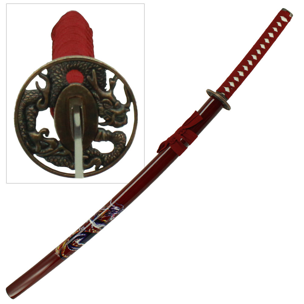 Samurai Red Dragon Bushido Katana