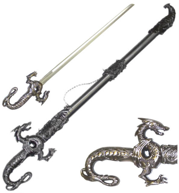 Silver Dragon Sword K2627 | Fantasy Swords | Swords | Heavenly Swords
