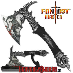 Dragon Fire Fantasy Axe