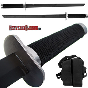 "Full Tang Ninja Combat Sword 25 1/2"" w/ Back Strap - 2pc."