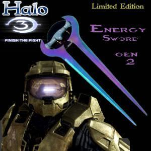Halo 3 - Master Chief&#039;s Energy Sword Custom Titanium Energy Melee Sword 27&quot;