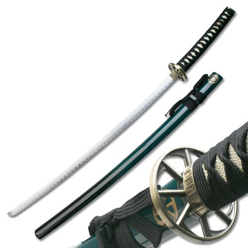 Traditional 2 Tone Samurai Sword and Scabbard Green 41&quot;