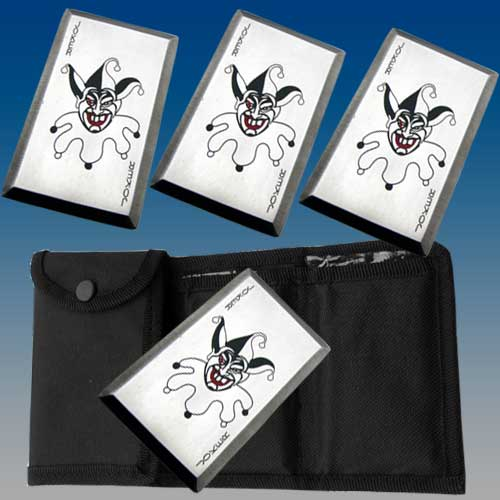 Joker Throwing Cards 4 pack