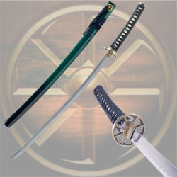 Whetstone Two Tone Green & Black Kama Katana 38""