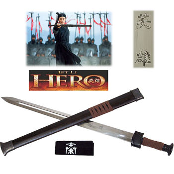 Hero Movie Sword of the Nameless Warrior w/Scabbard Snowflake Sword of WuMin