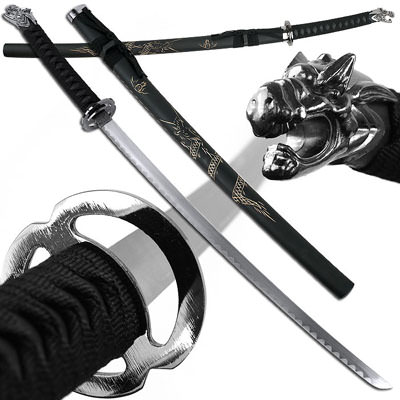 Dragon Slayer Katana with Engraved Scabbard 39 1/2""