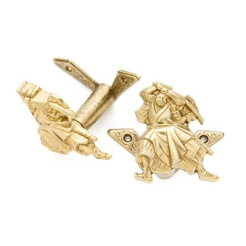 Gold Finished Samurai Sword Hanger Pair