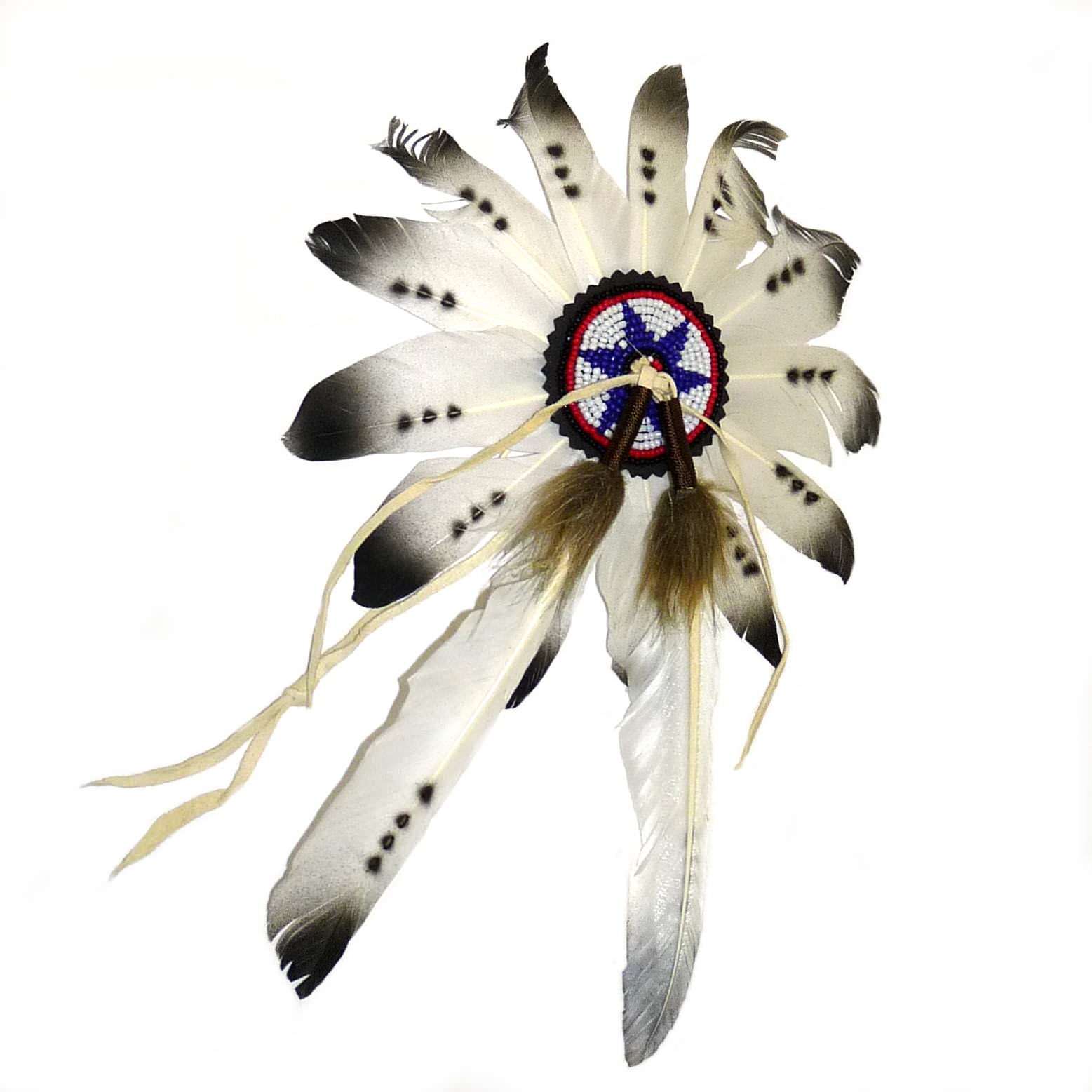 Native American Head Dress with Real Feather