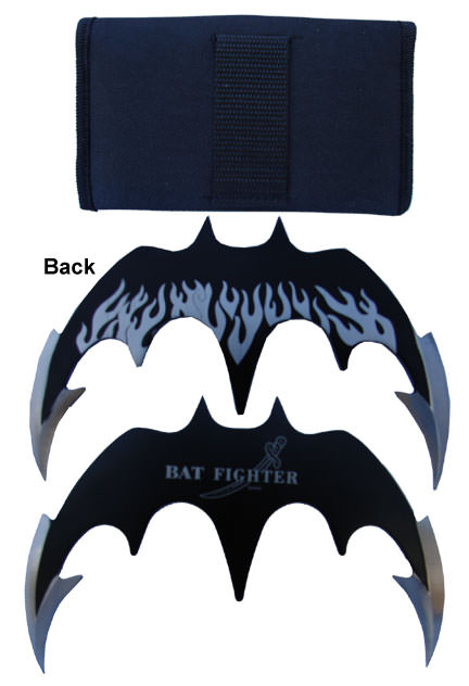 Batman Bat Fighter Throwing Knife (Black) 5.5""