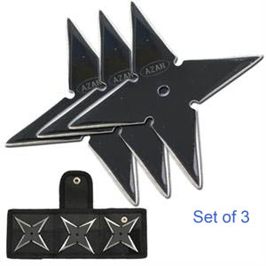 Azan Sure Stick Throwing Star Set of 3