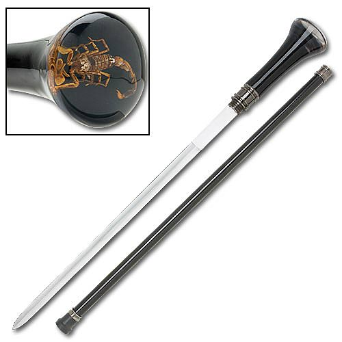 Raging Scorpion Sword Cane 34 1/4""